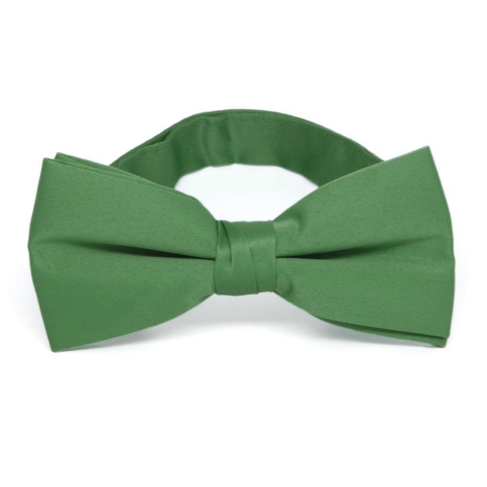 TieMart Irish Green Staff Bow Tie