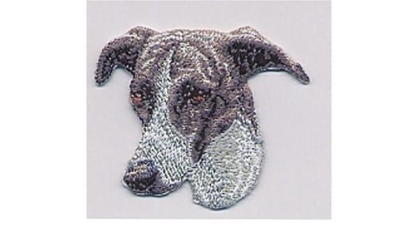 "1 7//8/"" x 2 1//4/"" Grayhound Greyhound Dog Breed Embroidery Patch"