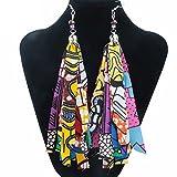 Colorful Handmade African Accessories for Women African Bohemia Style Women earrings ankara dashiki cotton fabric