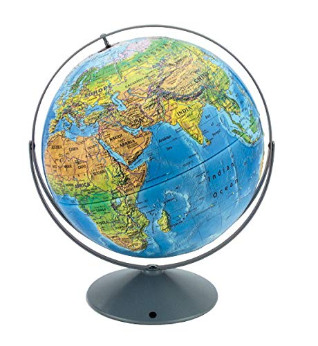 Nystrom Land Cover Raised Relief Globe (Nystrom Raised Relief Map Of The World)