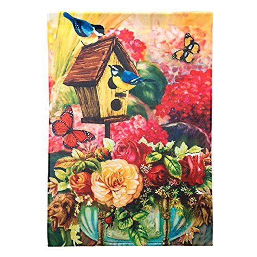 - Darice Birdhouse House Flag Home Decor