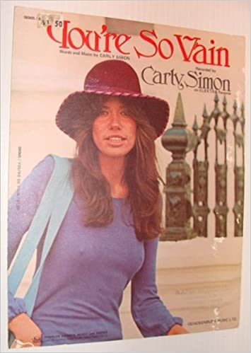 You're So Vain - Original Sheet Music: Carly Simon: Amazon.com: Books