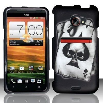 r Sprint HTC EVO 4G LTE - Black Hard Case Protector Cover + Lf Stylus Pen for HTC EVO 4G LTE (Htc Evo 4g Crystal)