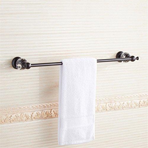 Nickel Crystal Lever - LAONA European black 古 crystal bath kit bath towel rack towel bar Toilet brush, Single Lever