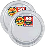 Amscan Silver Big Party Pack Dinner Plates (100 Count)