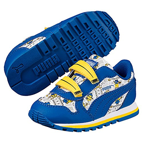 Price comparison product image PUMA Baby Minions ST Runner V Kids Sneaker,  Puma White-Lapis Blue-Minion Yellow,  6 M US Toddler