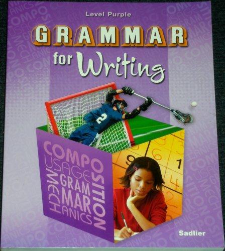 GRAMMAR F/WRITING-LEVEL PURPLE