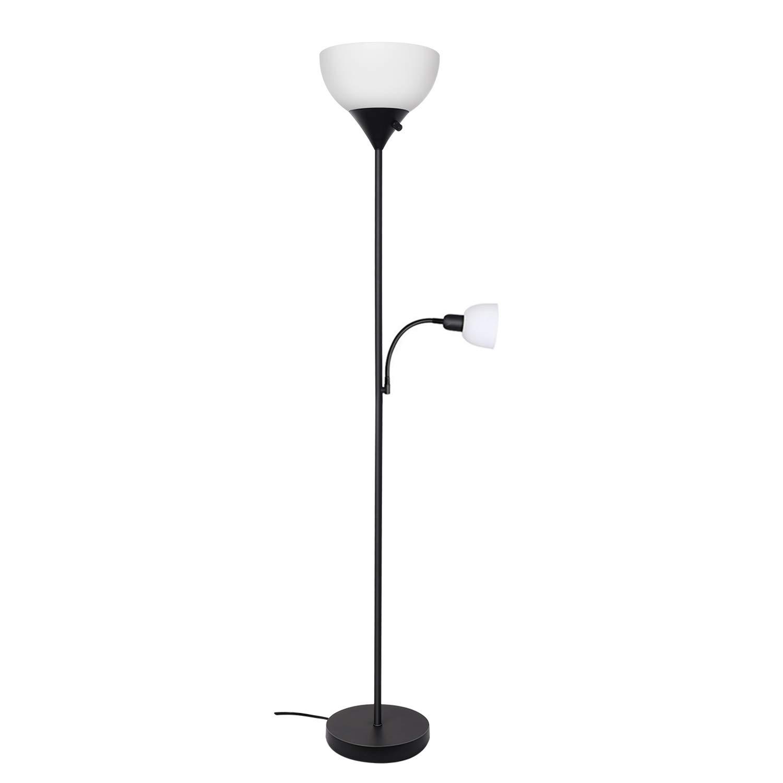 SUNLLIPE Floor Lamp 70.5 inches Energy Saving Modern Sturdy Standing Uplight LED Reading Light Lamp for Living Room, Dorm and Bedroom (Black)