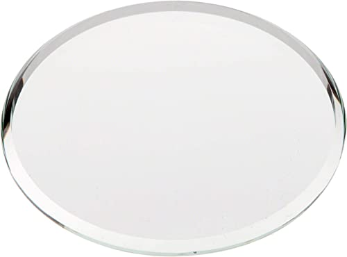 Plymor Round 3mm Beveled Glass Mirror, 2.5 inch x 2.5 inch Pack of 144