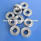 Fevas 10 PCS FR166ZZ Flanged Bearings 3/16 x 3/8 x 1/8 Flange Ball Bearings RIF-6632ZZ