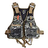 Hippodoctor Fishing Vest Pack for Trout Fishing Gear and Equipment Breathable Outdoor Fishing Vest Swimming Sailing Boating Safety Life Jacket Adjustable Size for Men and Women