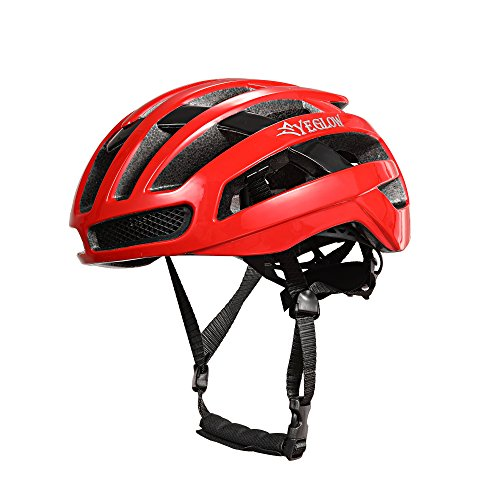 Stylish Adult Road Bike Helmet Aero Cycling Helmet for Men Red