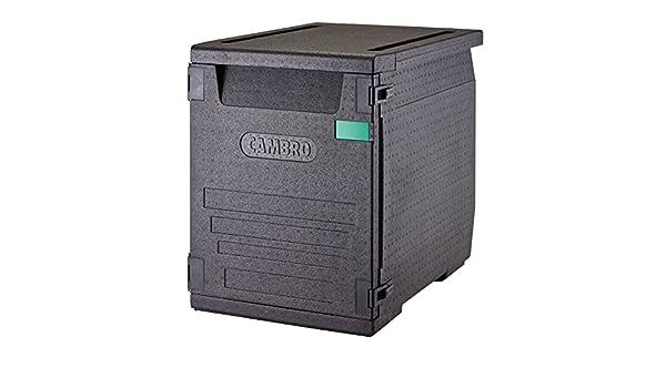 Contenedor isotérmico con carga frontal Cam Gobox para bandejas de 60x40 cm con 9 guías 126 L - 77 x 54 x 68,7 cm (M.Ext) - 61,5 x 41 x 58,5 cm (