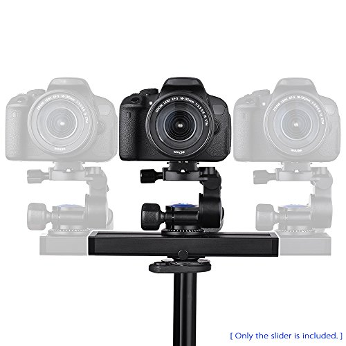 Andoer Mini 2-Way Damping Camera Slider Track Video Rail 34c