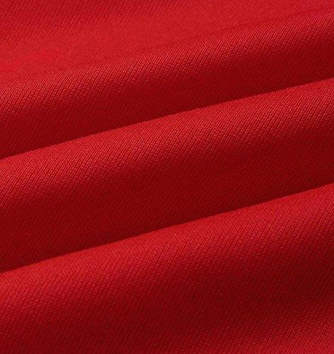 ZEZKT Damen Jogging-Anzug Kapuze Langarm Sweatshirt + Hosen Sportanzug Frauen Casual Anzug Tracksuit Zweiteiler Freizeit Jogginganzug Trainingsanzug Sportanzug Frauen Club Streetwear Rot