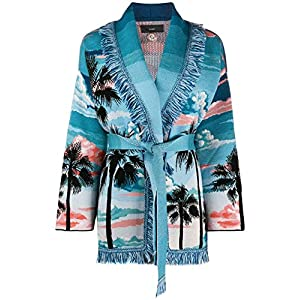 ALANUI Fashion Womens LWHB001R200850108888 Light Blue Cardigan | Spring-Summer 20