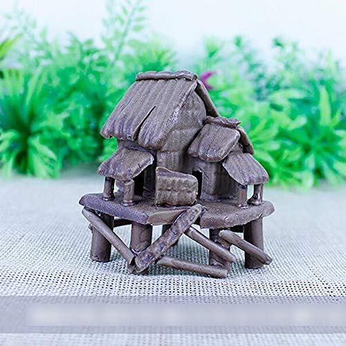 Bozhiyi Home Decoration Resin Crafts Ornaments Aqua Landscaping Underwater Ornament Accessories Multi-Size Ceramic Cottages Ceramic Pagoda (Size : 746.5cm)