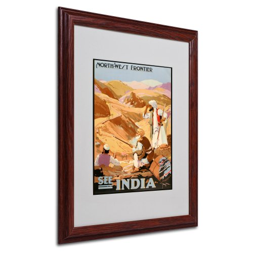 See India Artwork by Vintage Apple Collection, Wood Frame, 16 by 20-Inch by Trademark Fine Art