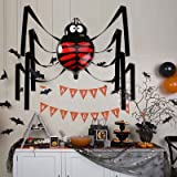 GIANT 20 FT HANGING PLASTIC SPIDER HALLOWEEN PARTY DECORATIONS CEILING PROP
