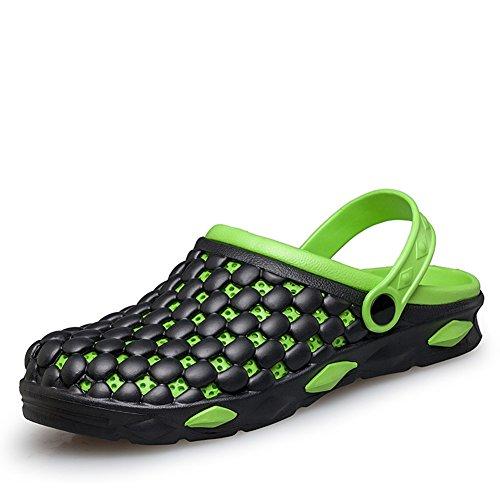 Mode-Löcher im Sommer Hausschuhe/Rutschfeste atmungsaktive Fuß Strand Hausschuhe-grün Fußlänge=25.3CM(10Inch)