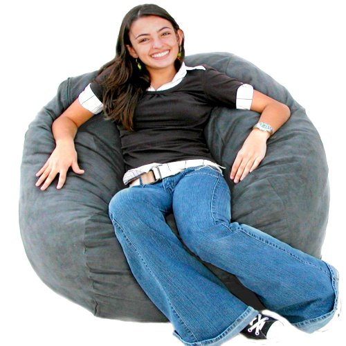 Cozy Sack 3-Feet Bean Bag Chair, Medium, Grey