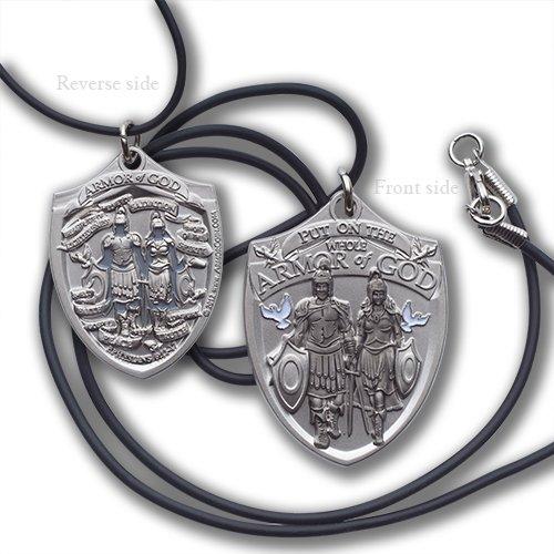 Armor of God Dog Tag with Black Cord