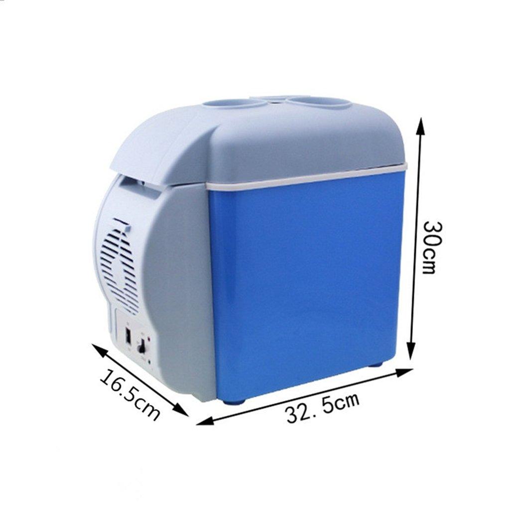 YI HOME- 7.5L Mini Refrigerator Car Horizontal Domestic Cooling Heating Dual-Use Small Freezer Dormitory Fridge Blue by YI HOME- (Image #5)