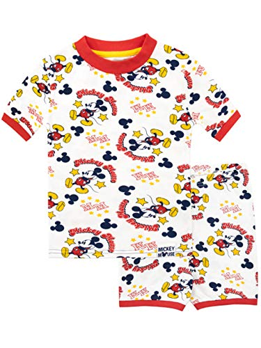 (Disney Mickey Mouse Boys Pajamas White Size 8)