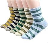 Eilin Boy Fashion Stripes Cotton Socks Elasticity