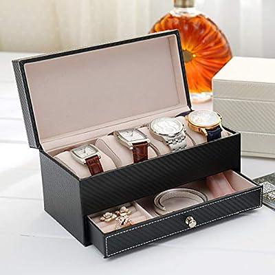 Caja expositora de relojes y gemelos con cajón, organizador de ...