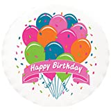 Lucks Edible Image, Bright Birthday Balloons, 12 Count