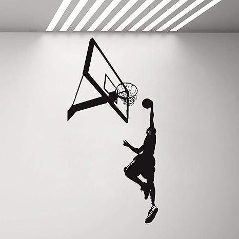 Aficionados al baloncesto vinilo calcomanía de pared habitación ...