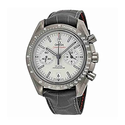 Omega Speedmaster Professional Grey Side of the Moon Chronograph Automatic Sandblasted Platinum Dial Grey Leather Mens Watch 311.93.44.51.99.001 from Omega