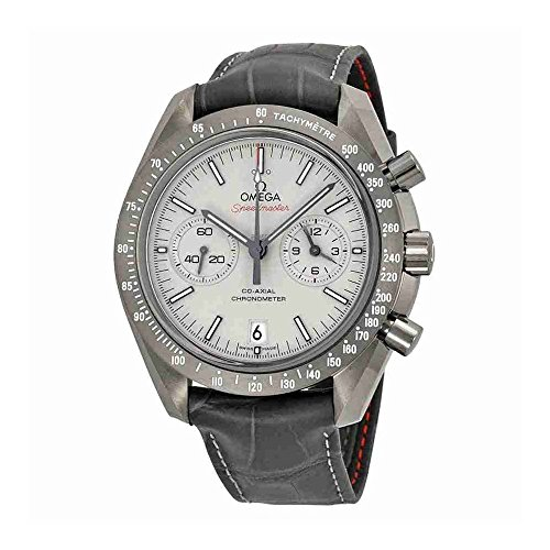 Omega Speedmaster Professional Grey Side of the Moon Chronograph Automatic Sandblasted Platinum Dial Grey Leather Mens Watch 311.93.44.51.99.001 (Sandblasted Platinum)