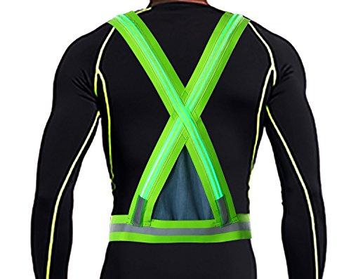 Men's Belts Original High Quality Safe Reflective Vest Belt Night Running Jogging Biking Elastic Prctical Safety Vest 4 Colors For Choice Sales Of Quality Assurance