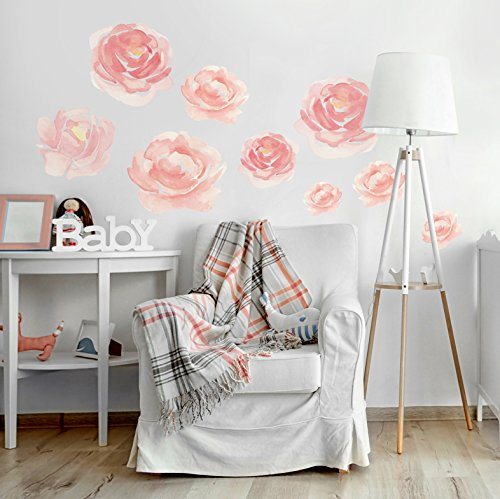 Better Than Paint E116374 Faster & Easier Than Stenciling, Painting Or Wallpaper: This Is Not A Decal, This Is An Art Transfer Watercolor Blooms Wall Décor Fast & Easy, Pink by Better Than Paint (Image #3)