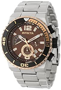 Invicta Men's 12997 Pro Diver Chronograph Brown Dial Stainless Steel Watch