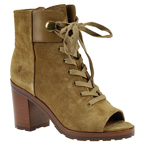 Frye Mujeres Danica Lug Bota De Combate Sand Suede Soft Oiled Suede