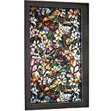 TT&CC 3D Stained Glass Window Film,Privacy Heat Control Removable Static Cling Window Decoration no Glue Heat Control Bedroom-A 122x100cm(48x39inch)