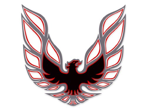 1973 1974 1975 1976 1977 1978 Pontiac Firebird Trans Am Sail Panel Bird Decals - CHARCOAL / RED