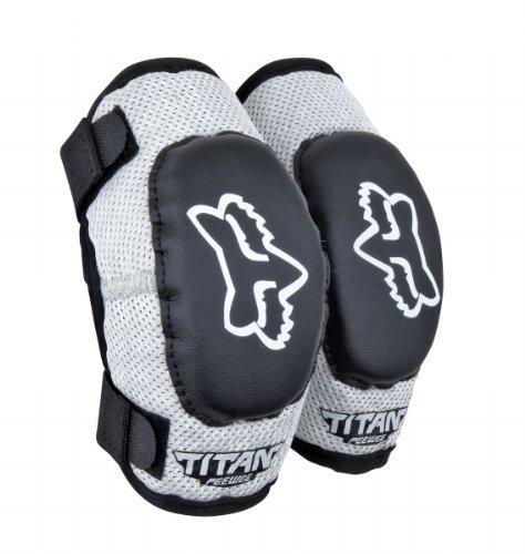 Fox Racing PeeWee Titan Elbow Guards Black/Silver Medium/Large M/L