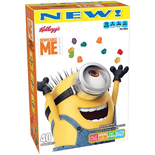 Kellogg's Despicable Me 3 Fruit Flavored Snacks, 40 Count, 32 Ounce