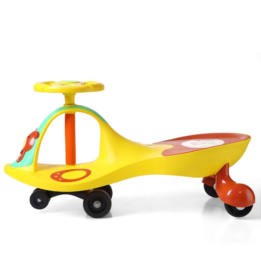 promociones de equipo Amarillo Fenfen Twist Coche Baby Slide para niños niños niños Yo-yo Swing Juguete Coche con música de 3 años de Edad y más de 79.5  27  41cm (Color   Amarillo)  venta de ofertas