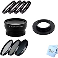 SAVEoN Lens Kit Fits GoPro Hero 4, Telephoto Lens with 3 Piece Filter Kit and Macro Filters 37MM