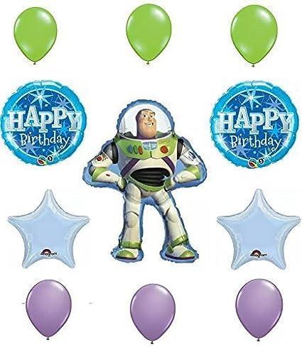 Groovy Toy Story Buzz Lightyear Happy Birthday Balloon Decoration Kit Download Free Architecture Designs Scobabritishbridgeorg