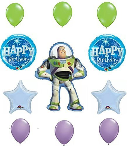 Toy Story Buzz Lightyear Happy Birthday Balloon Decoration Kit
