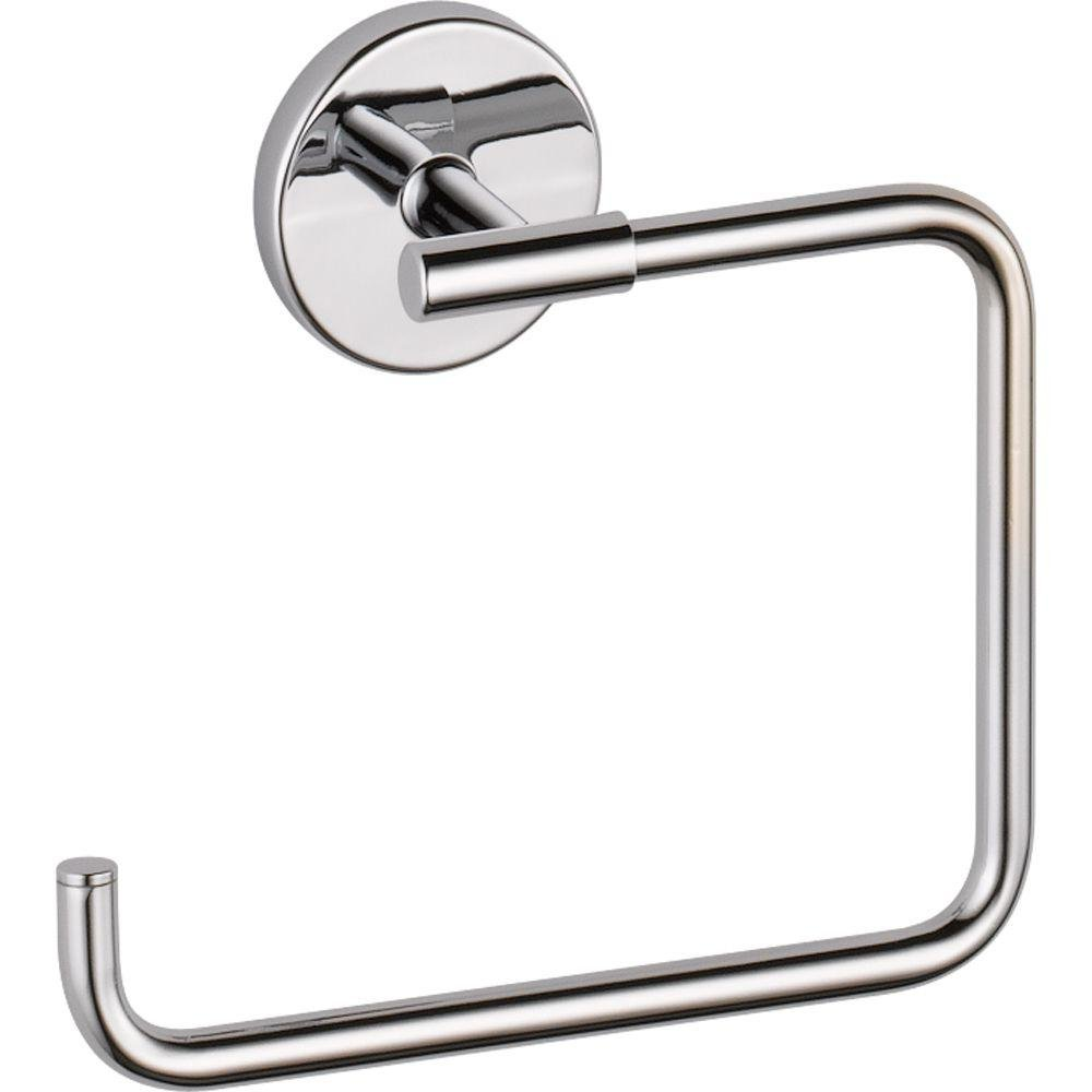 Delta Faucet 759460 Trinsic Towel Ring, Chrome