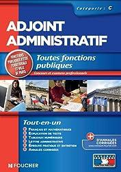 Adjoint administratif catégorie C. Concours Examen professionnel