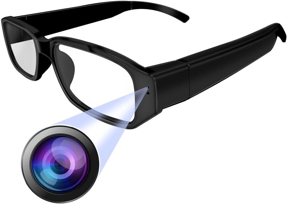 Umanor Cámara oculta Gafas, cámara del espía de la manera, registrador video del lazo, mini cámaras de la nana, negro: Amazon.es: Bricolaje y herramientas