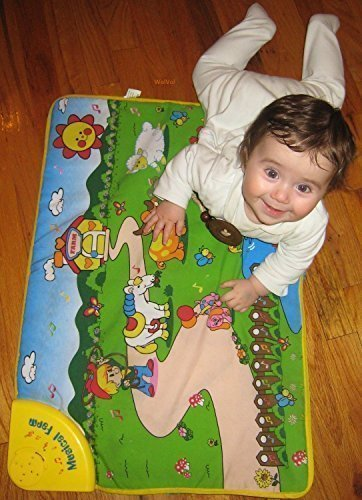 WolVol Baby Play Mat Musical Animals Farm 275 x 195 inches TouchCrawlSoundVisual Great Gift Toy for 1 Year Old